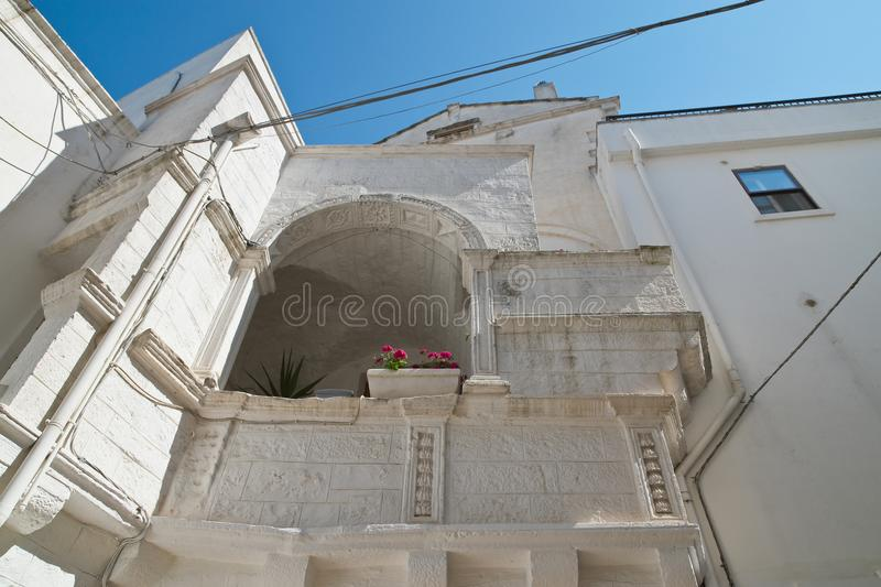 Alleyway. Cisternino. Puglia. Italy. stock photos