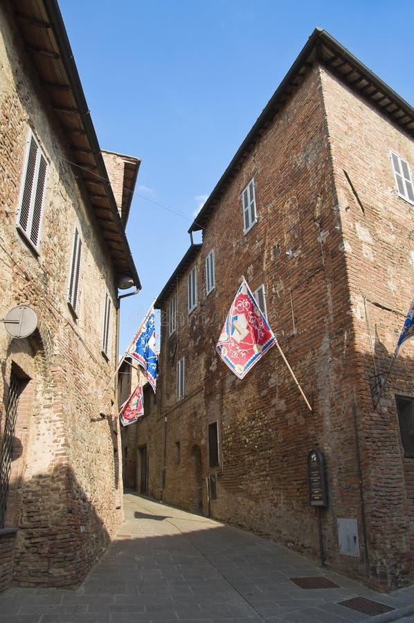 Alleyway. Citta  Della Pieve. Umbria. Royalty Free Stock Images