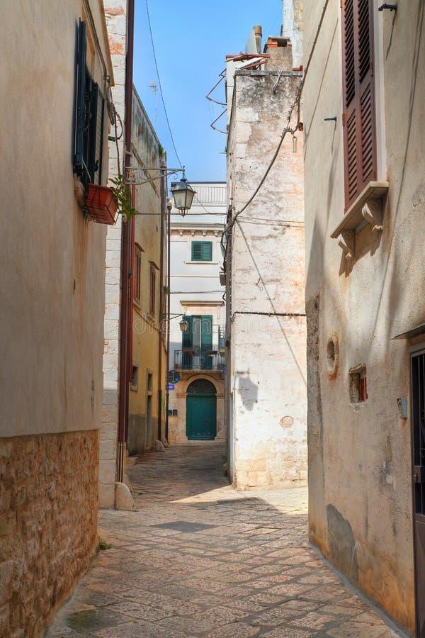 alleyway Conversano Puglia Italy fotografia de stock