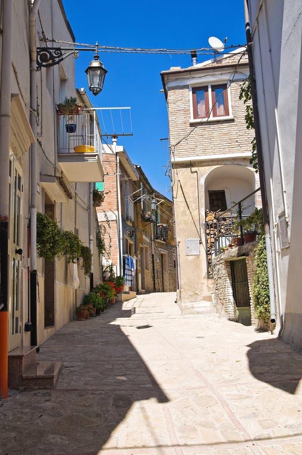 Alleyway. Deliceto. Puglia. Italy. Perspective of an alleyway of Deliceto. Puglia. Italy stock image