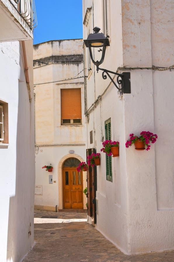 alleyway Fasano Puglia Italy imagens de stock