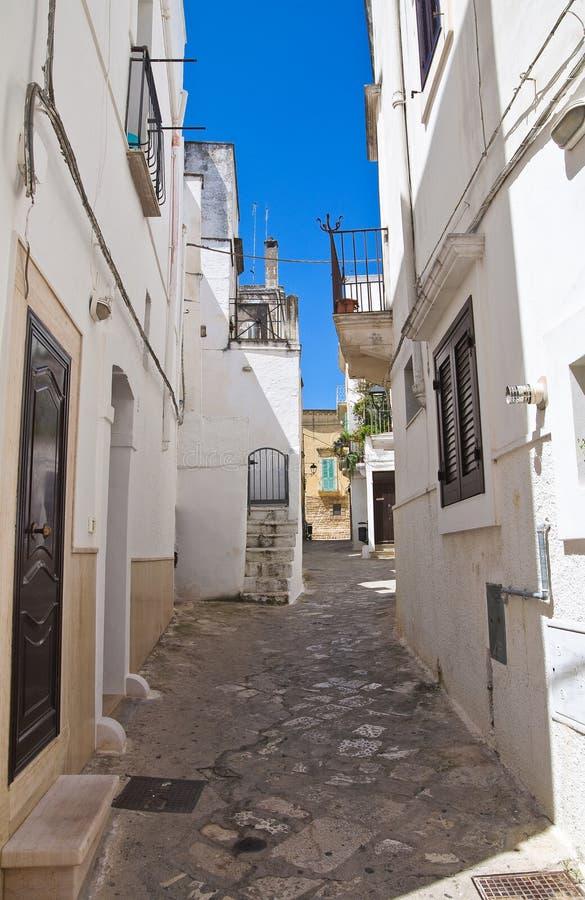 alleyway Fasano Puglia Italy imagem de stock royalty free