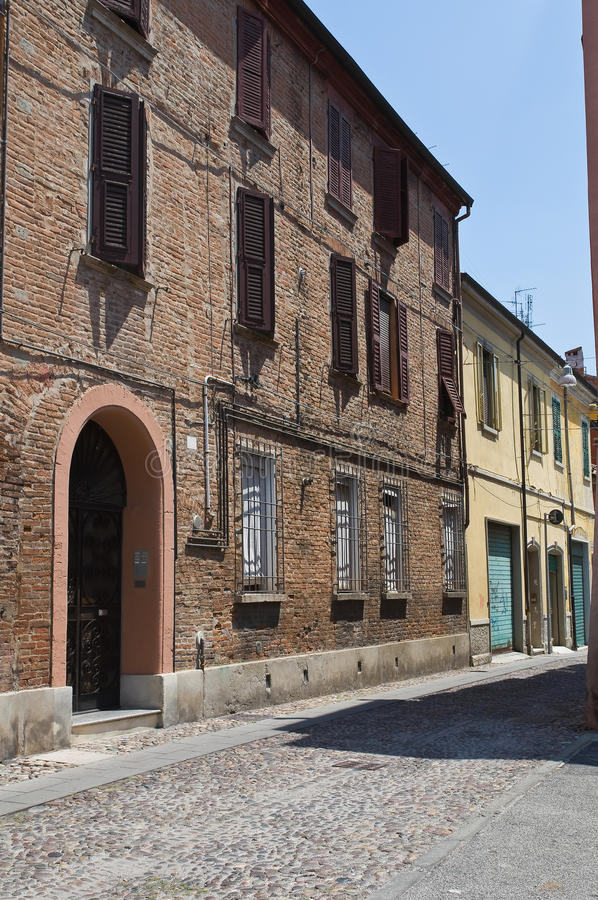 Download Alleyway of Ferrara. stock photo. Image of architectural - 22142056