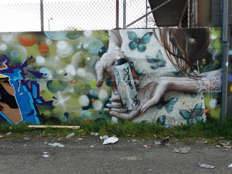 Alleyway Graffiti royalty free stock photography