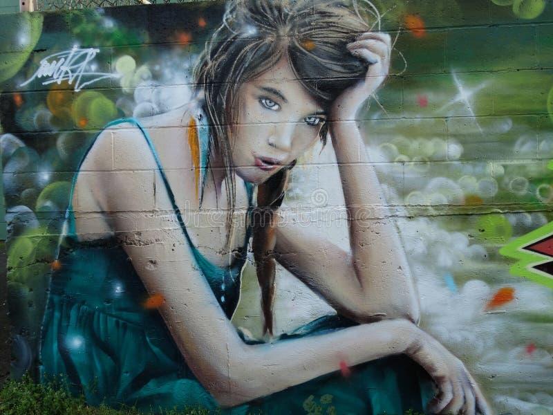 Alleyway Graffiti royalty free stock photos