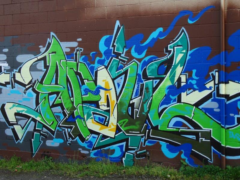 Alleyway Graffiti stock image