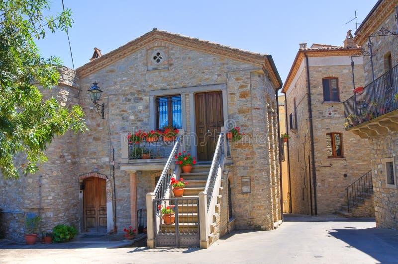 alleyway Guardia Perticara Basilicata Italy imagem de stock