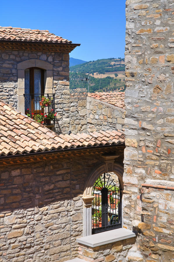 alleyway Guardia Perticara Basilicata Italy imagem de stock royalty free