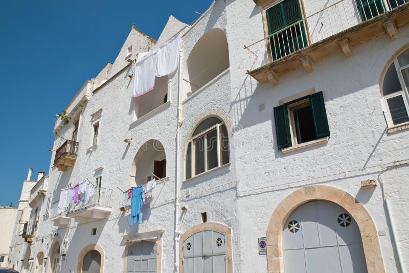 Alleyway. Locorotondo. Puglia. Italy. Alleyway of Locorotondo. Puglia. Italy royalty free stock images