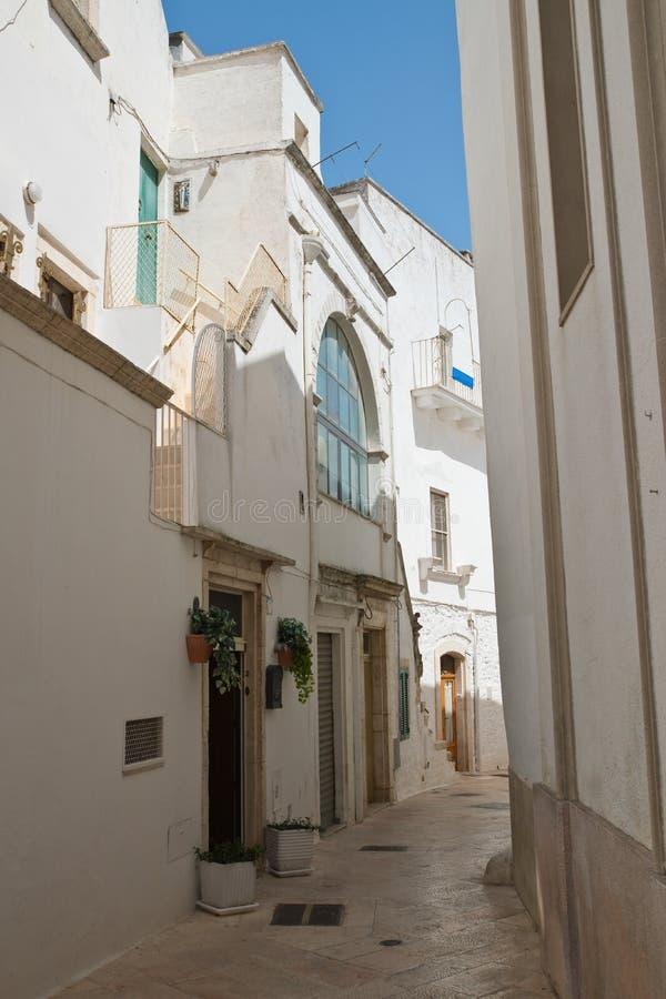 Alleyway. Locorotondo. Puglia. Italy. Alleyway of Locorotondo. Puglia. Italy stock photos