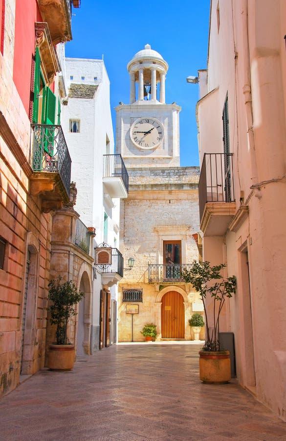 Alleyway. Locorotondo. Puglia. Italy. Alleyway of Locorotondo. Puglia. Italy stock images