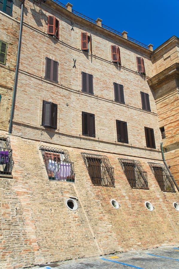 alleyway Macerata Marche Italy imagem de stock
