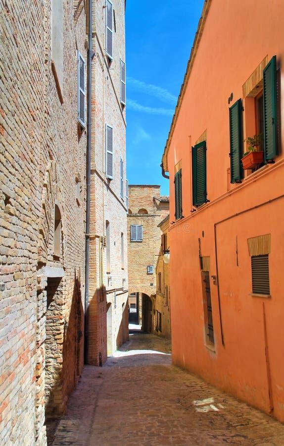 alleyway Macerata Marche Italy foto de stock