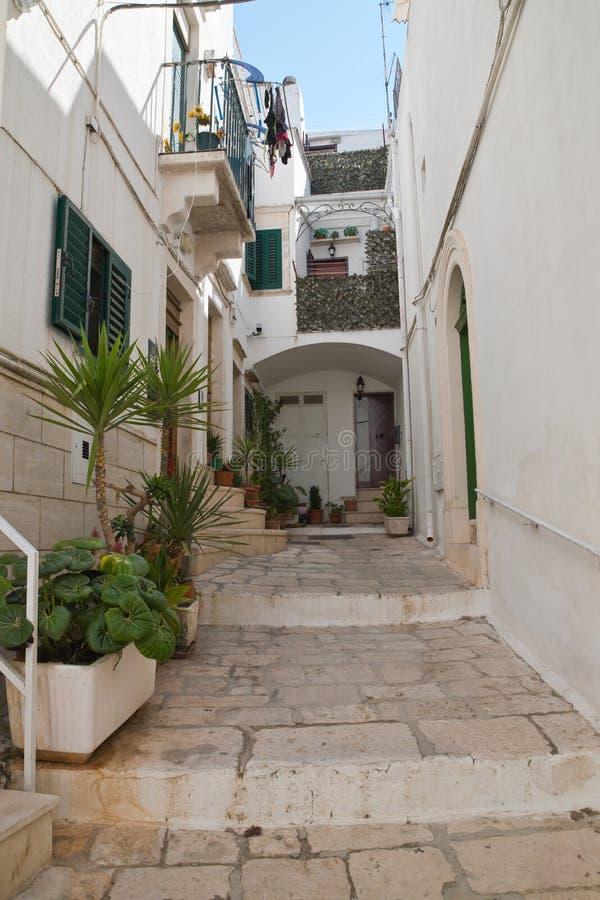 Alleyway. Martina Franca. Puglia. Italy. Alleyway of Martina Franca. Puglia. Italy stock photo
