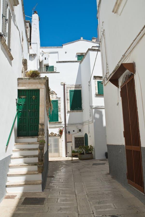 Alleyway. Martina Franca. Puglia. Italy. Alleyway of Martina Franca. Puglia. Italy royalty free stock photo