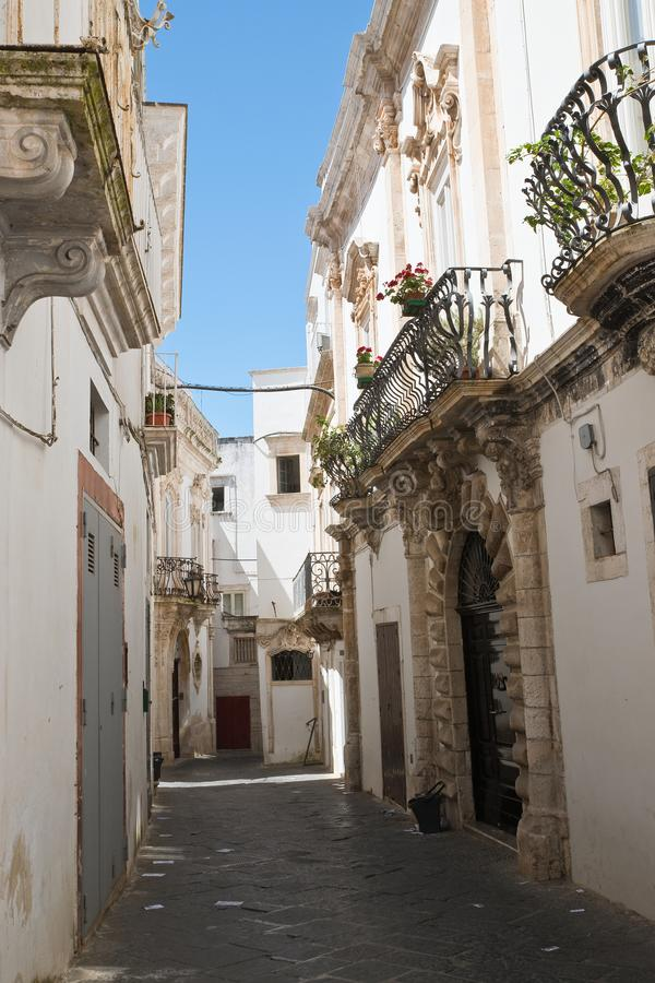 Alleyway. Martina Franca. Puglia. Italy. Alleyway of Martina Franca. Puglia. Italy royalty free stock images