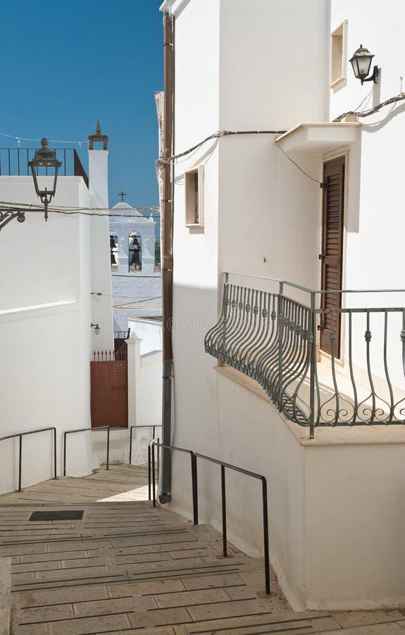 Alleyway. Massafra. Puglia. Italy. Alleyway of Massafra. Puglia. Italy royalty free stock images