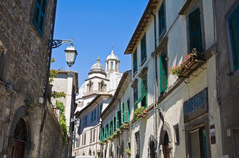 Alleyway. Montefiascone. Lazio. Włochy. zdjęcia stock
