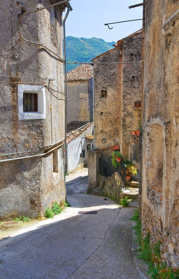 Alleyway. Morano Calabro. Calabria. Italy. Alleyway of Morano Calabro. Calabria. Italy royalty free stock photography