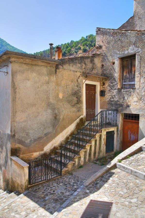 Alleyway. Morano Calabro. Calabria. Italy. Alleyway of Morano Calabro. Calabria. Italy royalty free stock images