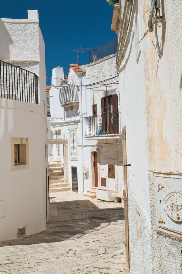 Alleyway. Noci. Puglia. Italy. Alleyway of Noci. Puglia. Italy royalty free stock images