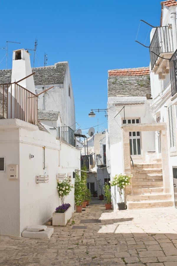 Alleyway. Noci. Puglia. Italy. Alleyway of Noci. Puglia. Italy royalty free stock image