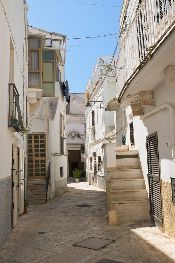 Alleyway. Noci. Puglia. Italy. Alleyway of Noci. Puglia. Italy royalty free stock photo