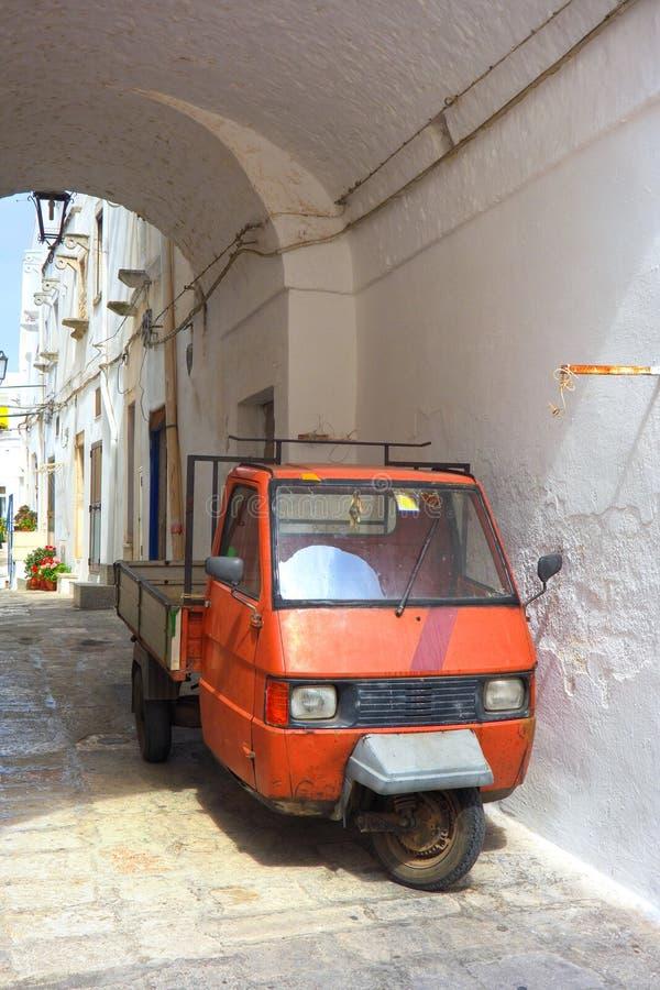 Alleyway. Ostuni. Puglia. Italy. stock photography