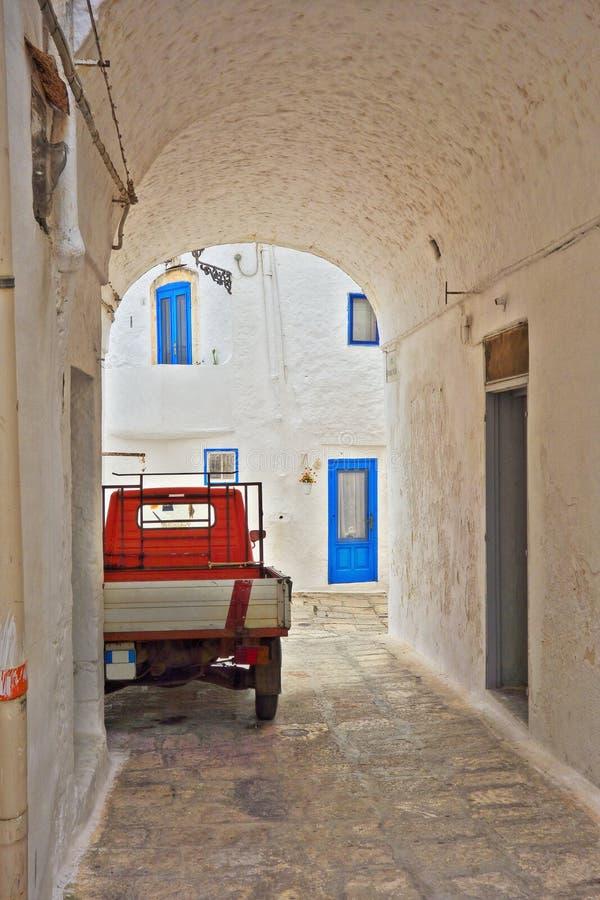 Alleyway. Ostuni. Puglia. Italy. stock photos