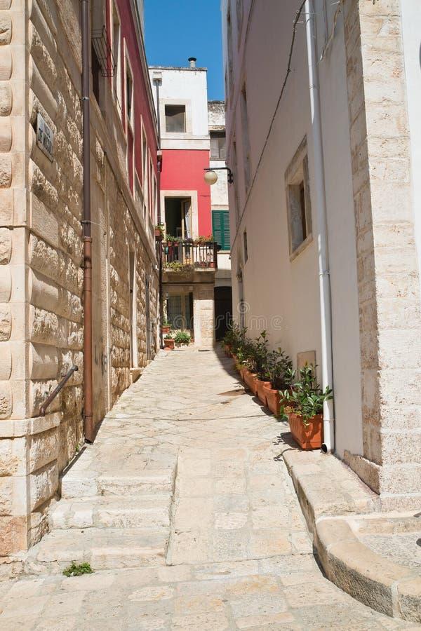 alleyway Putignano Puglia Italy imagem de stock