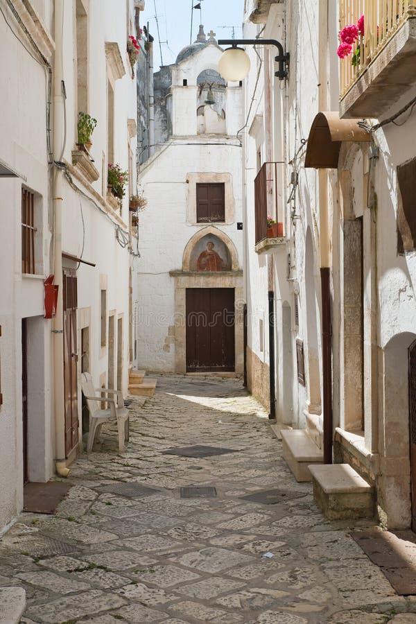 alleyway Putignano Puglia Italy imagens de stock