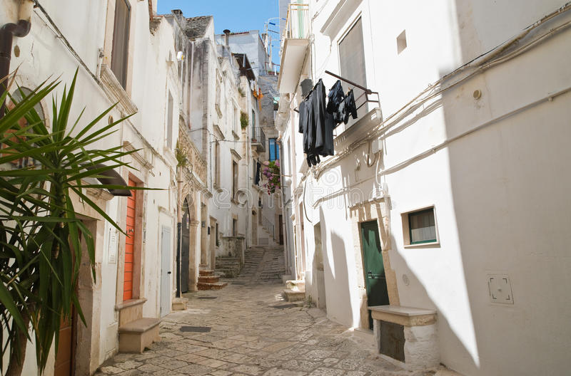 alleyway Putignano Puglia Italy fotografia de stock