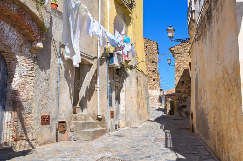Alleyway. Rocca Imperiale. Calabria. Italy. royalty free stock photography