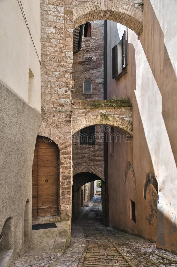 Download Alleyway. Spello. Umbria. Stock Image - Image: 16499301