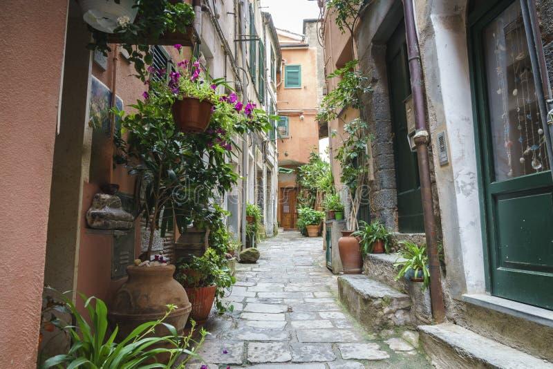 Alleyway w cinque terre Italy fotografia stock