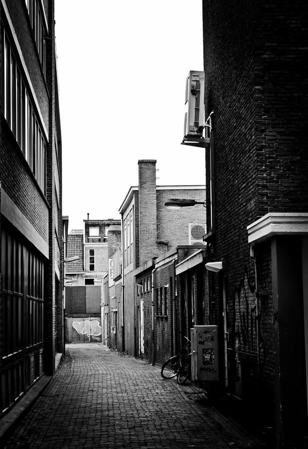 Alleyway w Groningen zdjęcia royalty free