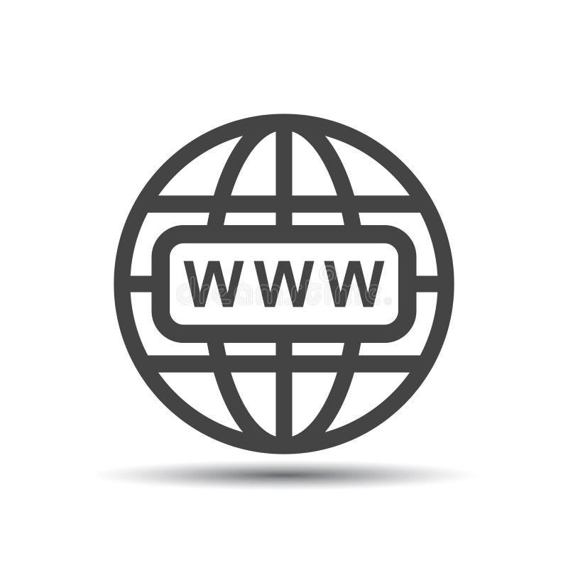 Allez à l'icône de Web Illustration plate de vecteur d'Internet pour le site Web dessus illustration libre de droits