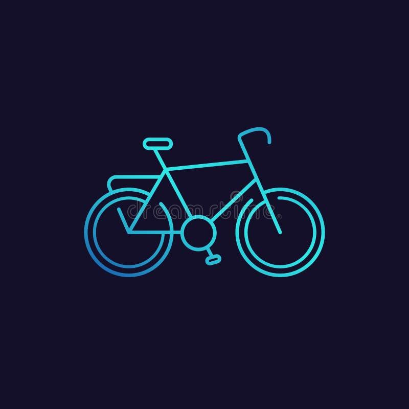 Allez à vélo l'icône, vecteur de vélo illustration stock