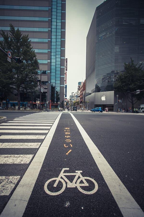 Allez à vélo la route image stock