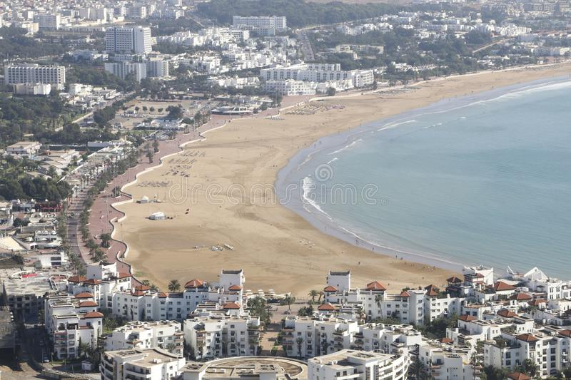 Allgemeine Ansicht von Agadir vom Kasbah, Agadir, Marokko stockfotos