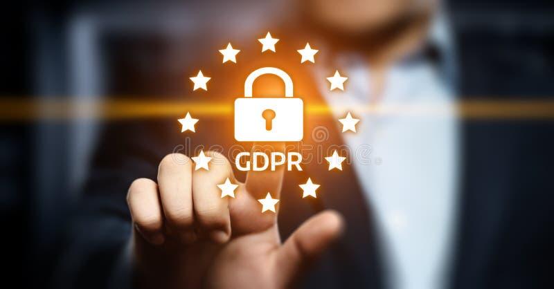 Allgemeine Daten-Schutz-vorgeschriebenes Geschäfts-Internet-Technologie-Konzept GDPR stockfotografie