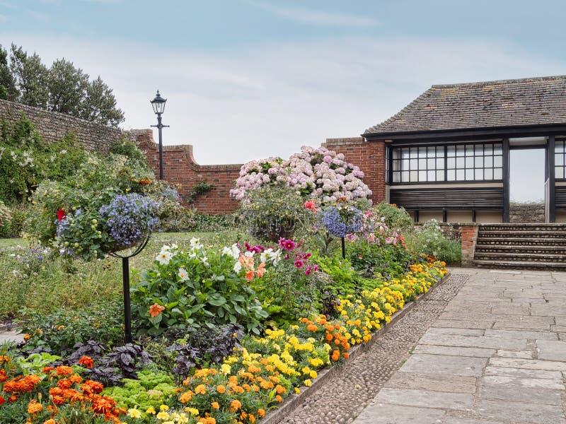 Allgemeine Gärten Connaught, Sidmouth, Devon, Großbritannien August 2015 lizenzfreies stockfoto
