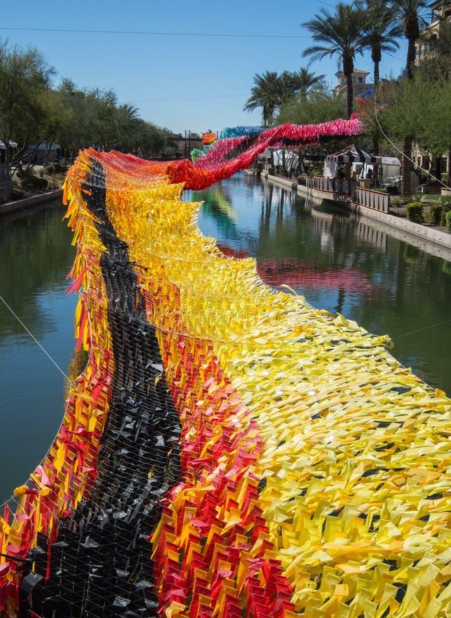 Allgemeine Kunst auf dem Kanal, im Stadtzentrum gelegener Scottsdale, Arizona lizenzfreie stockfotos