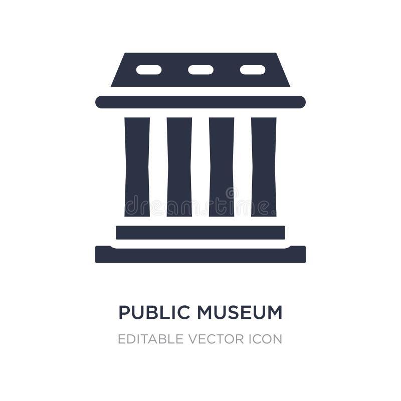 allgemeine Museumsikone auf weißem Hintergrund Einfache Elementillustration vom Gebäudekonzept lizenzfreie abbildung