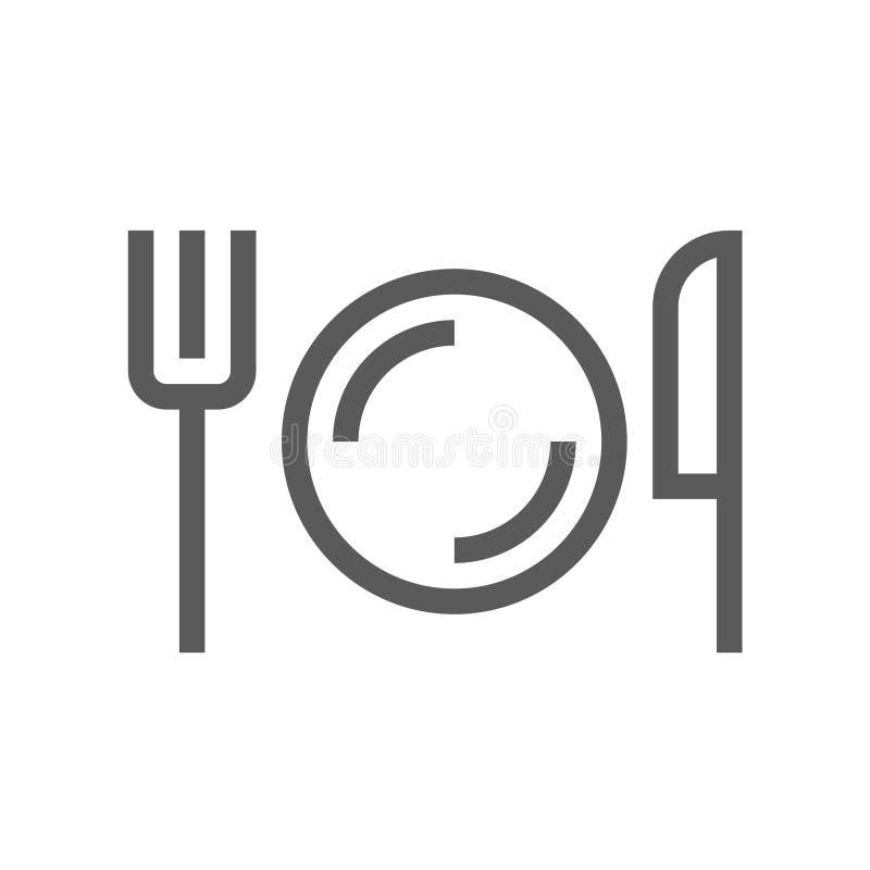 Allgemeine Navigations-Vektor-Linie Ikone cafeteria Editable Anschlag Pixel 48x48 perfekt lizenzfreie abbildung