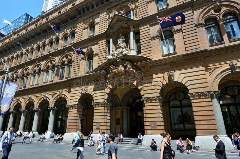 Allgemeine Post, die Sydney New South Wales Australia errichtet lizenzfreies stockfoto