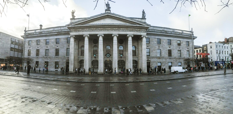 Allgemeine Post, Dublin, Irland lizenzfreies stockbild