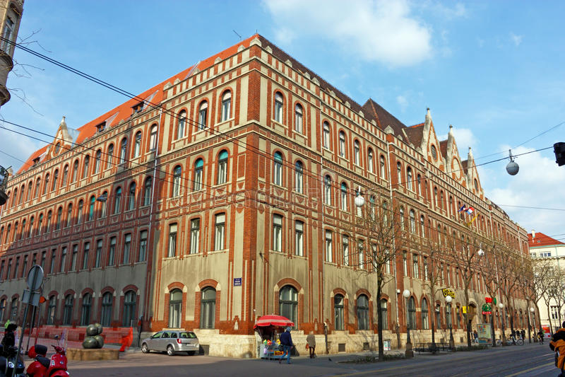 Allgemeine Post, Zagreb stockbild