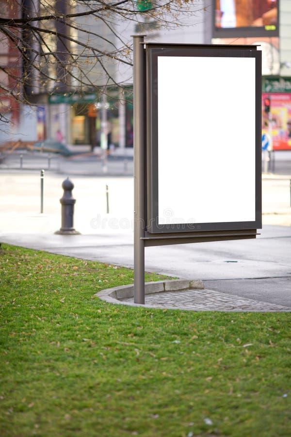Allgemeine Reklamefläche für Förderung purpouse lizenzfreies stockbild