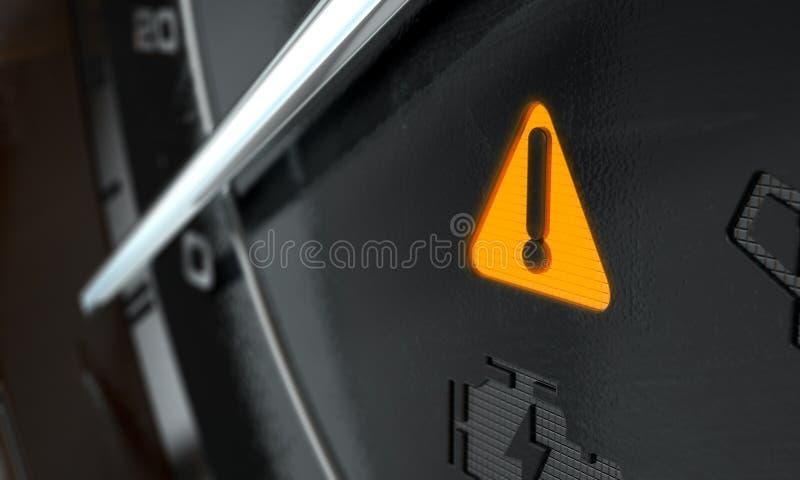 Allgemeine warnende Armaturenbrettbeleuchtung vektor abbildung